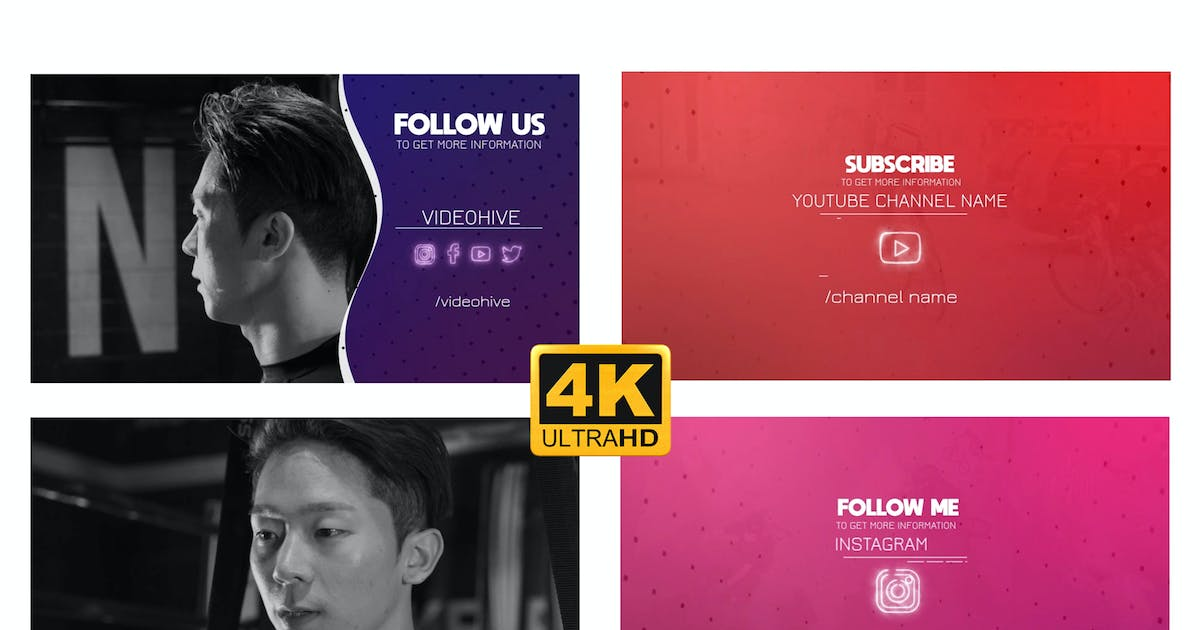 Download Social Outro - Follow Pack by oztasmedia