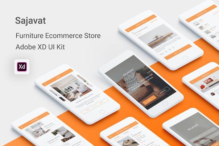Thumbnail for Sajavat - Furniture Ecommerce Store for Adobe XD