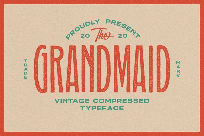 Thumbnail for Grandmaid Condensed Typeface