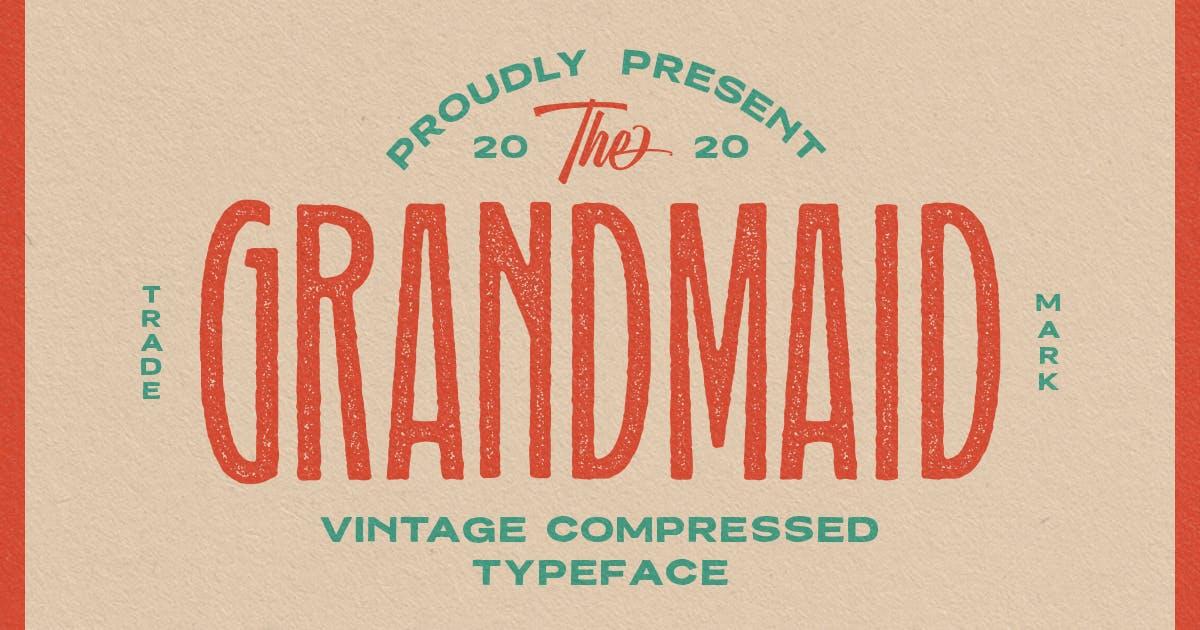 Download Grandmaid Condensed Typeface by MartypeCo