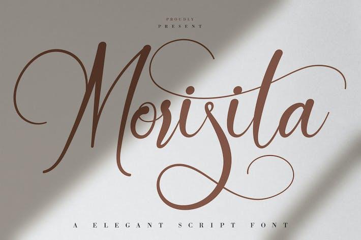 Thumbnail for Morisita | Elegant Script Font