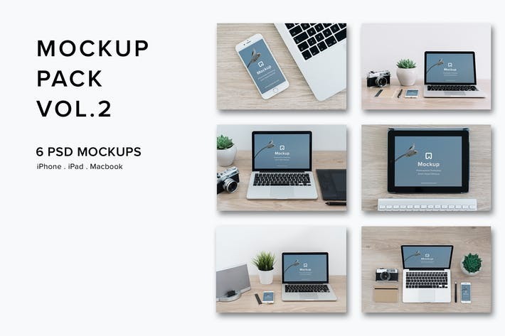 Thumbnail for Mockup Pack Vol.2 - 06 Photorealistic PSD