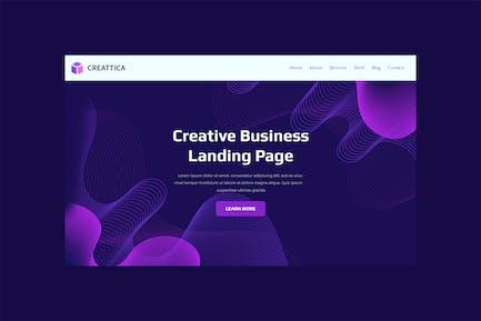 Creaticca - Web Page Template