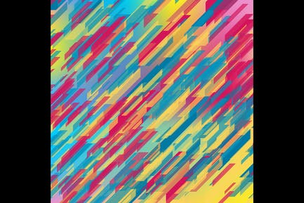 Colorful geometric tech abstract background