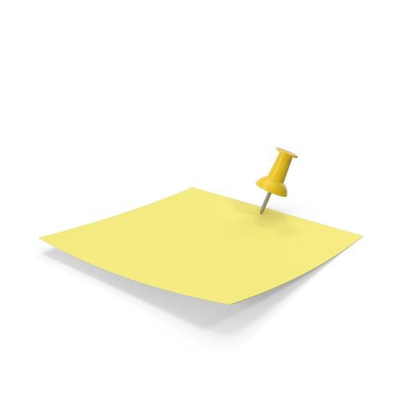 Gelbes Papier mit gelbem Stift