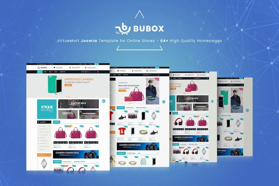 Bubox VirtueMart Joomla Template for Online Store
