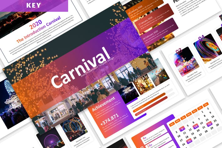 Карнавал - шаблон ключевых заметок бизнеса