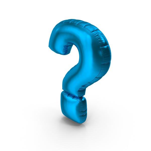 Foil Balloon Question Mark Blue
