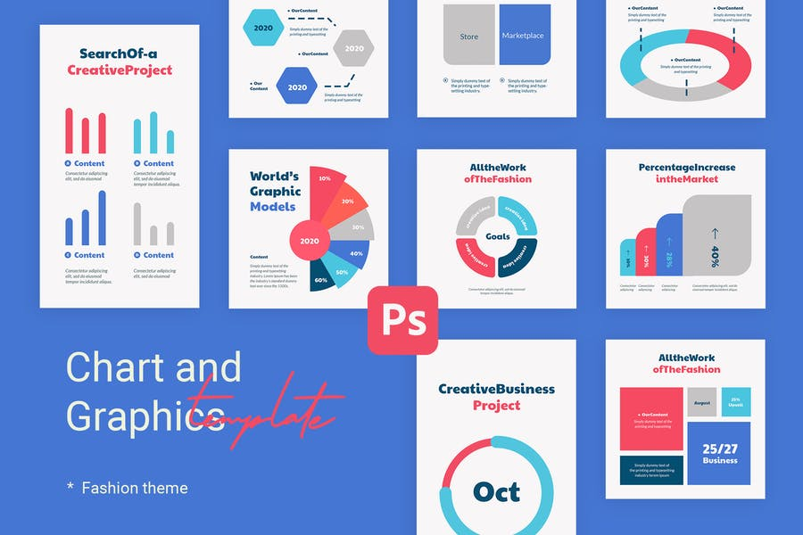Charts & Graphs Instagram Templates for Fashion V2