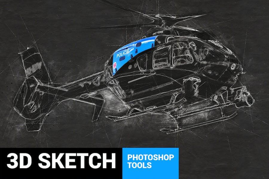 Conceptum - 3D Sketch Photoshop Action