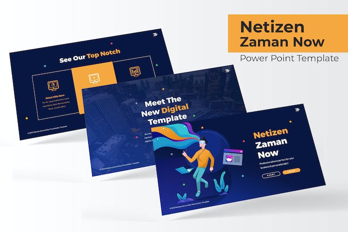 Thumbnail for Netizen Zaman Now - Powerpoint Template