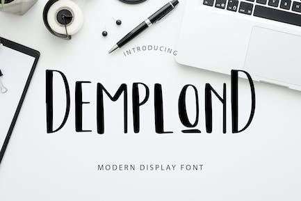 DemplonD Display Font