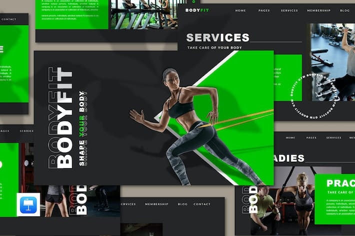 Thumbnail for Bodyfit - Fitness Keynote Template