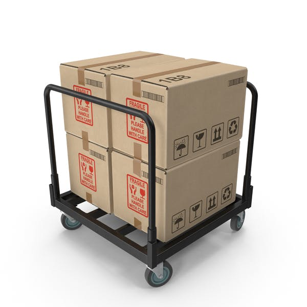 Industrial Cart of Boxes