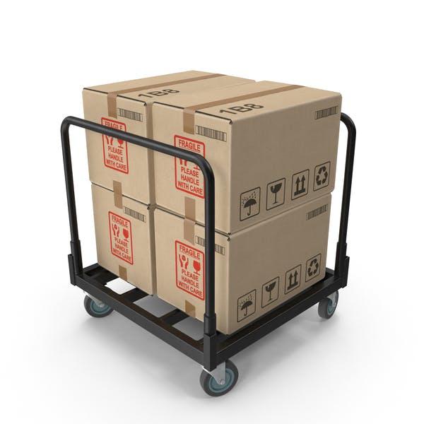 Промышленная тележка коробок