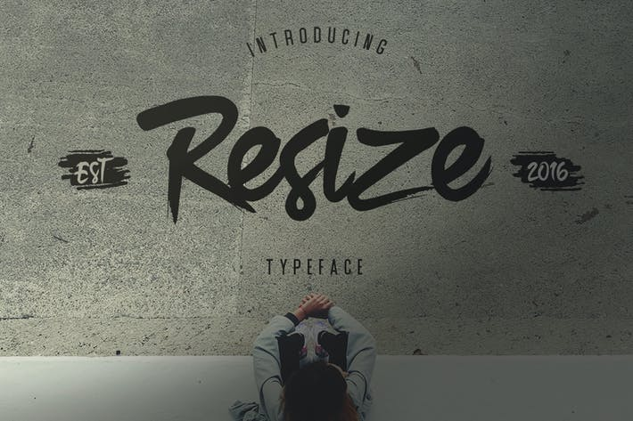 Thumbnail for Resize Typeface