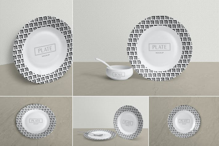 Thumbnail for Ceramic Plate Mockups