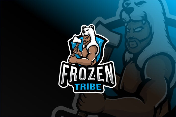 Thumbnail for Frozen Tribe Esport Logo Template