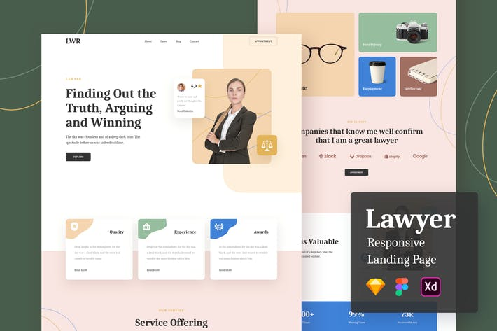 Thumbnail for Lawyer Responsive Landing Page