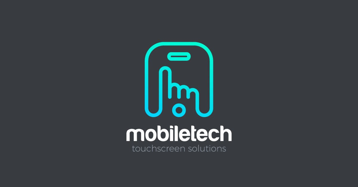Download Logo Hand Finger touch Mobile Phone touchscreen by Sentavio