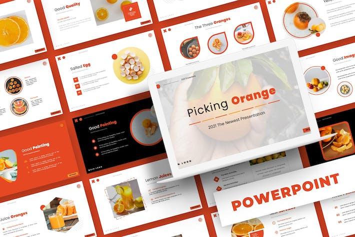 Выбор оранжевого цвета - шаблон Powerpoint