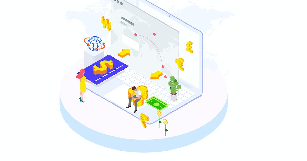 Download Internation Payments by Finance Isometric - FV by angelbi88
