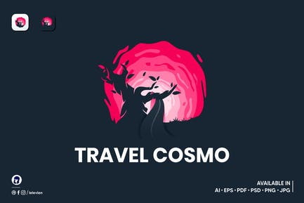 Travel Cosmo logo template