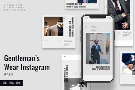 Gentleman Instagram Stories & Post Pack