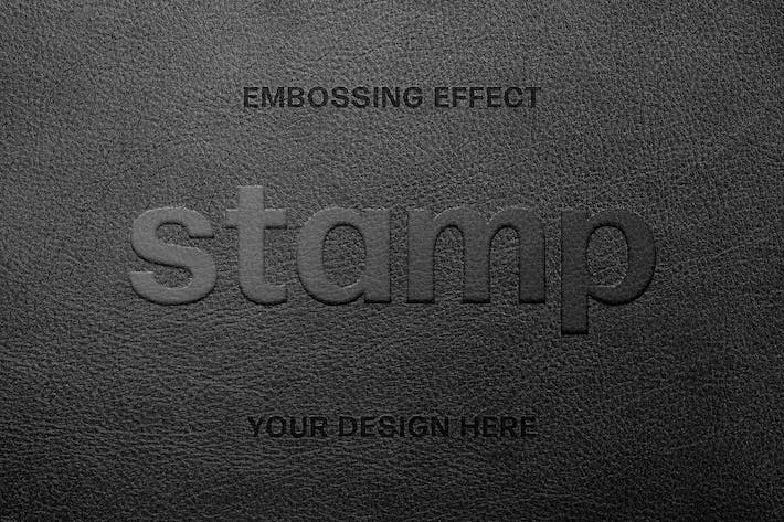 Leather Embossing Text Effect