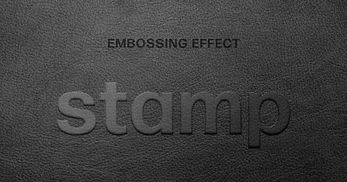 Download Leather Embossing Text Effect by pixelbuddha_graphic