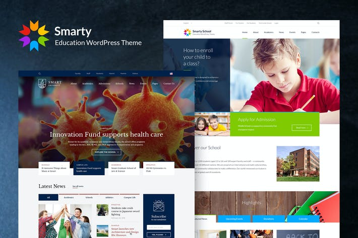 Thumbnail for Smarty - Education WordPress Theme