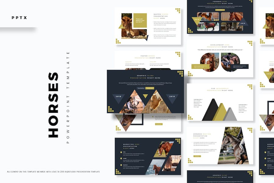 Horses - Powerpoint Template