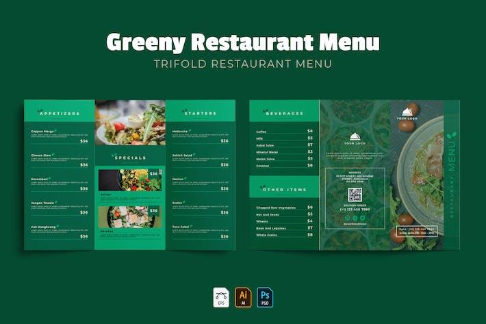 Thumbnail for Greeny Trifold | Restaurant Menu