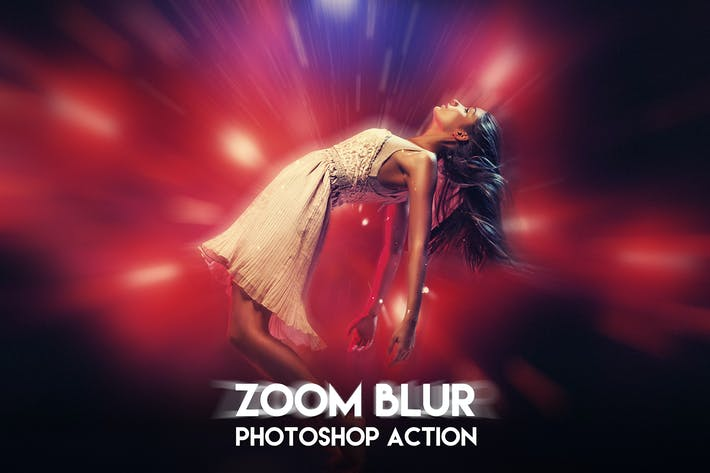 Thumbnail for Zoom Blur Photoshop Action