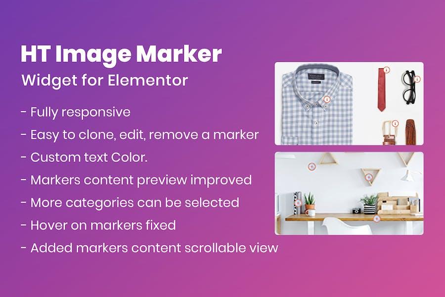 HT Image Marker for Elementor