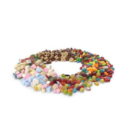 Circle of Mixed Sweets