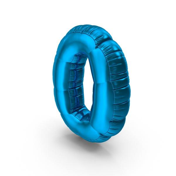 Thumbnail for Folienballon Nummer 0 blau