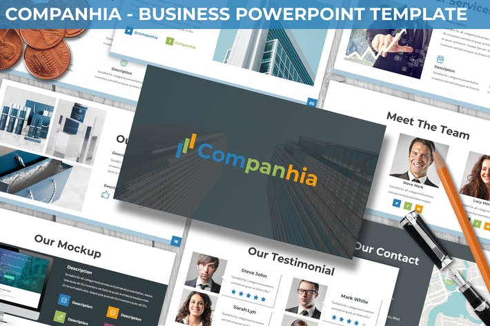 Thumbnail for Companhia - Business Powerpoint Template