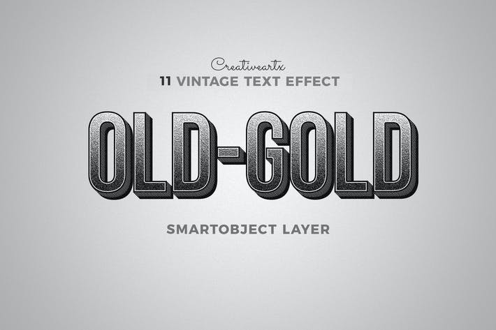 Thumbnail for Vintage Retro Text Effects