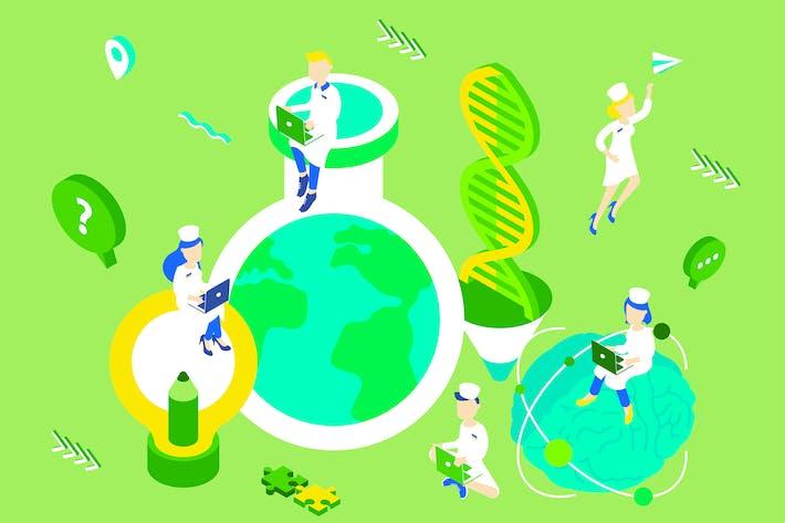 Thumbnail for Ilustración isométrica de innovación
