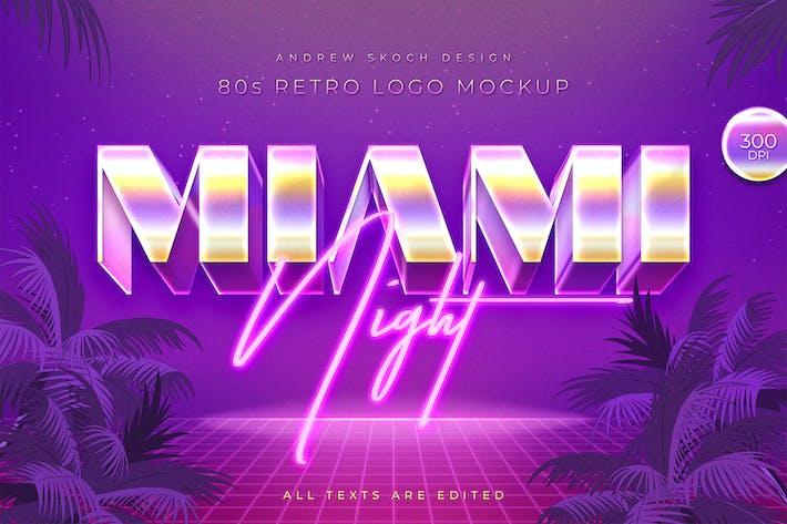 Thumbnail for Miami - 80s Retro Logo Mockup