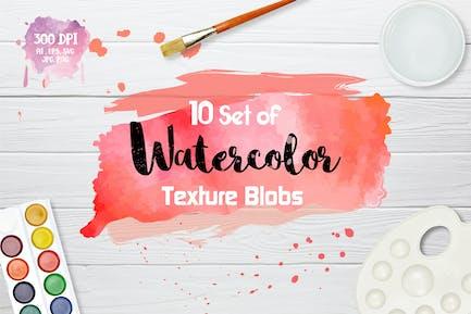 Watercolor Texture Blobs