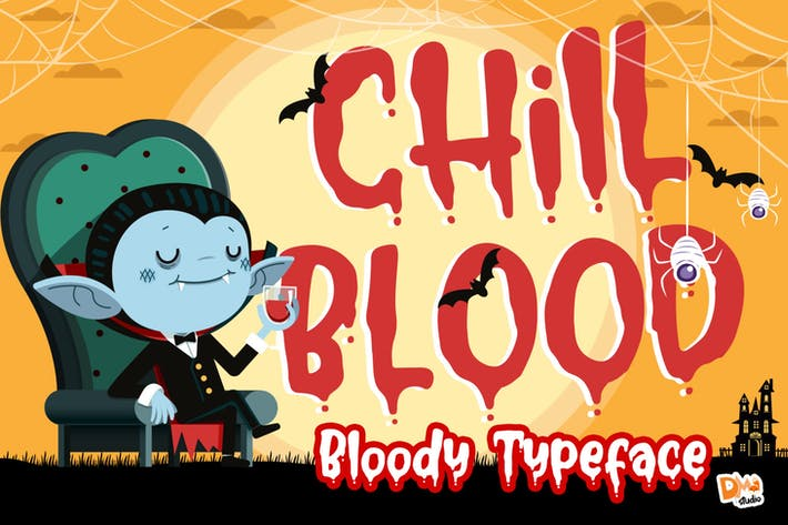 Thumbnail for Chill Blood - Bloody Typeface