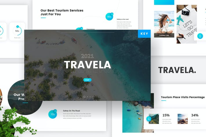 Шаблон Keynote о туристическом туризме