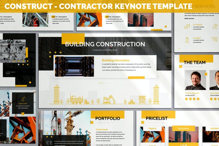 Construct - Contractor Keynote Template