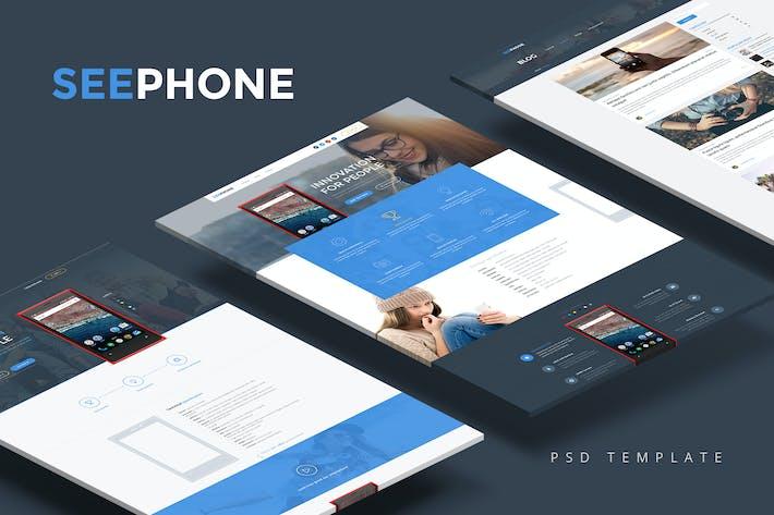 Thumbnail for SeePhone — Tema único PSD de la tienda de teléfonos