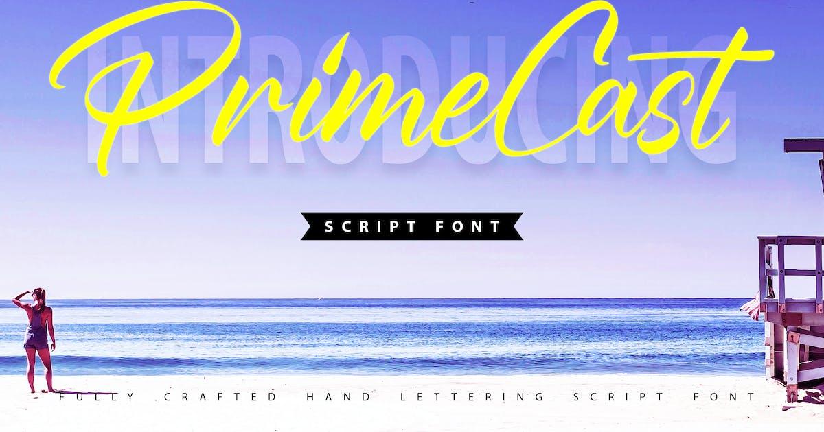Download PrimeCast   Handlettering Script Font by Vunira