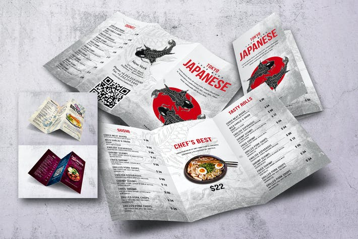 Cover Image For Different Countries Trifold Menu Bundle