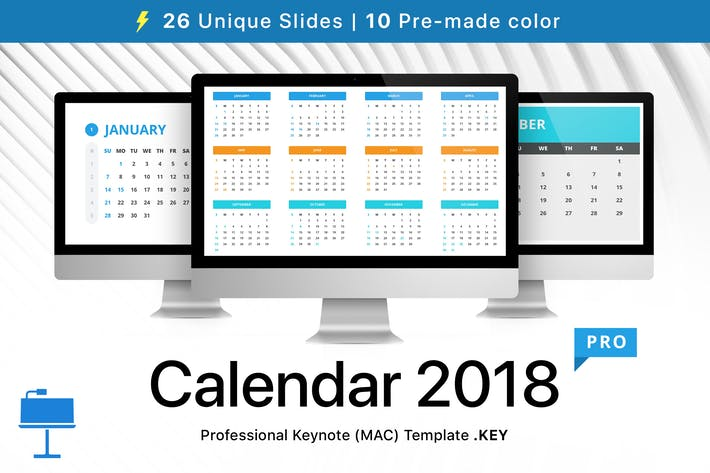 Thumbnail for Calendar 2018 for Keynote