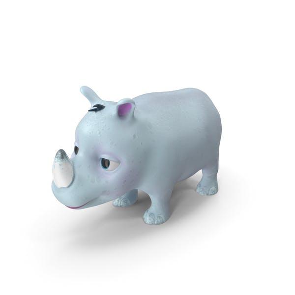 Toon Rhino Baby White